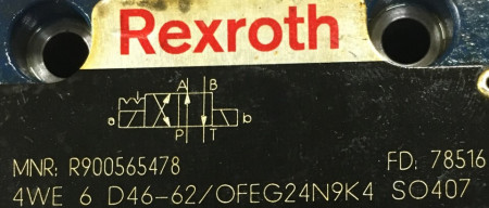 Distribuitor hidraulic 4WE6D46-62/OFEG24N9K4 Rexroth