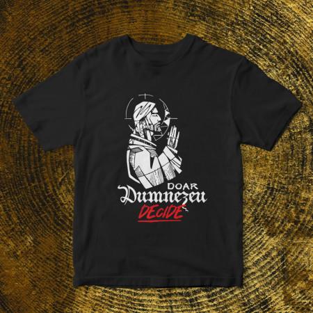 "Tricou ""Doar Dumnezeu decide"" + CD gratis la alegere"