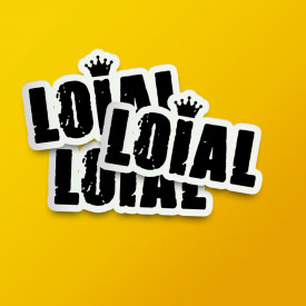 "Pack stickere ""Loial"""