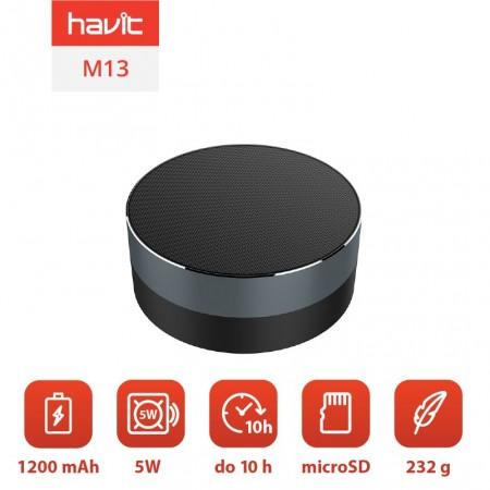 Boxa portabila Bluetooth Havit M13 (gri)