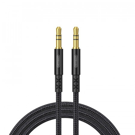 Cablu auxiliar Joyroom stereo AUX 3,5 mm mini jack 1.5 m black (SY-10A1)