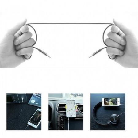 Cablu auxiliar Remax 2 m, negru