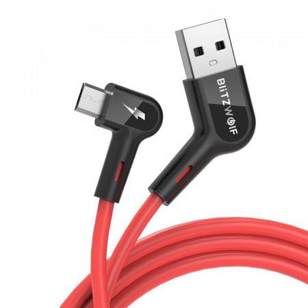 Cablu USB-A la Micro USB BlitzWolf BW-AC2 2,4A 1,8m