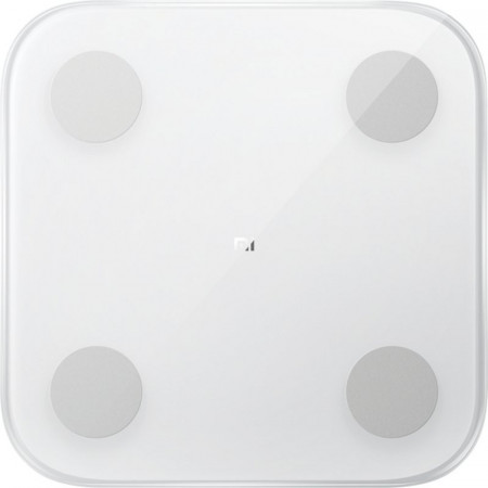 Cantar inteligent Xiaomi Mi Smart Scale 2 NUN4008GL, 150 kg, Bluetooth, Sticla securizata, Alb