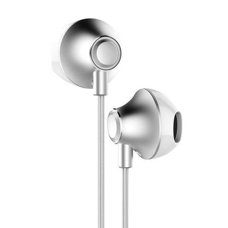 Casti audio telefon cu telecomanda pentru controlul volumului , Baseus Enock H06 , jack 3.5 mm , gri
