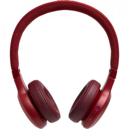 Casti On-Ear JBL LIVE400BT, JBL Signature Sound, Voice Assistant, Bluetooth Wireless, TalkThru Technology, Hands-free calls, 24h playback, rosu