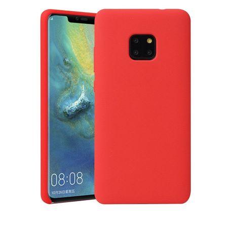 Husa telefon din silicon flexibil cu interior din material microfibra impotriva zgarieturilor , Gema Mixt pentru Huawei Mate 20 Pro , rosu
