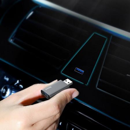Stick memorie Baseus pendrive 64 GB cu port USB de incarcare, silver (ACUP-C0S)