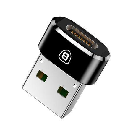 Adaptor Type C in USB, Baseus, Negru