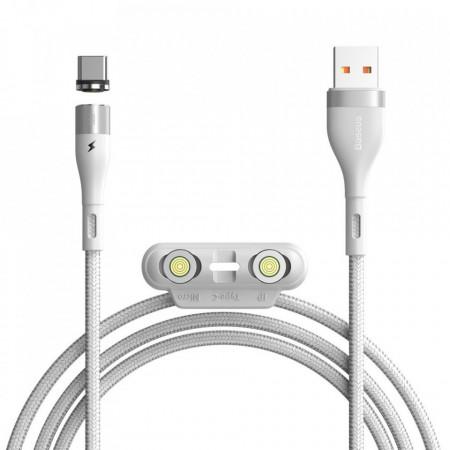 Cablu USB Baseus Fast 3in1 USB la USB-C / Lightning / Micro AFC 1 m 3 A 480 Mbps white (CA1T3-A02)