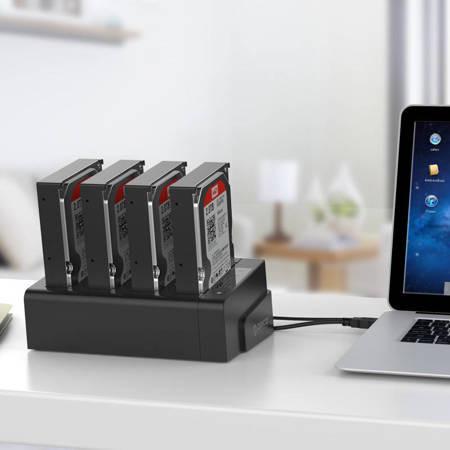 Dock Orico Clonare Hard Drive 2,5 / 3,5 inch 4 Bay USB3.0 1 până la 3 (negru)