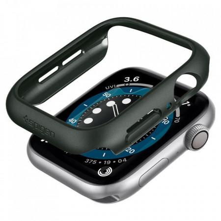 Husa smartwatch Spigen Thin Fit pentru Apple Watch 4/5/6/Se (44mm) Military Green
