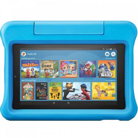 Tableta Amazon Fire 7, afisaj de 7 inch, 16 GB, albastru, potrivita pentru copii