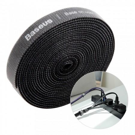 Curea Velcro Baseus pentru organizarea cablurilor , 3M , negru