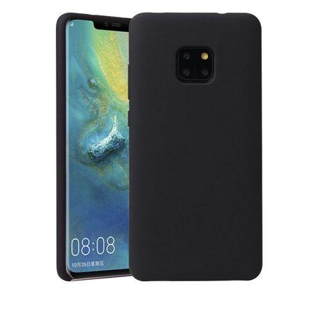 Husa telefon din silicon flexibil cu interior din material microfibra impotriva zgarieturilor , Gema Mixt pentru Huawei Mate 20 Pro , negru