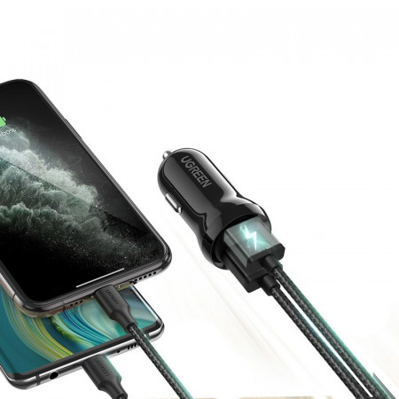 Incarcator auto Ugreen 2x USB 24W 4,8A negru