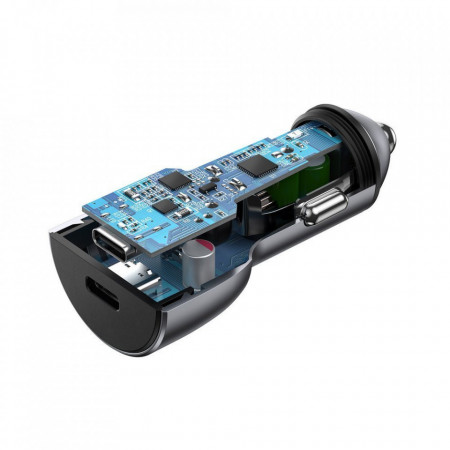 Incarcator auto Ugreen 2x USB Type C Quick Charge 4.0 PD 36 W FCP AFC 3 A (CD213 70594)