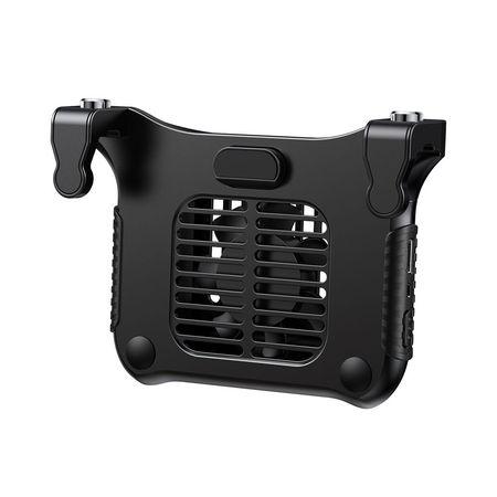 Ventilator racire telefon cu butoane extra pentru gaming, Baseus Winner Cooling, negru