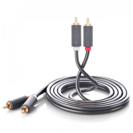 Cablu UGREEN 2RCA (Cinch) pana la 2RCA (Cinch) Cablu 3m (negru)