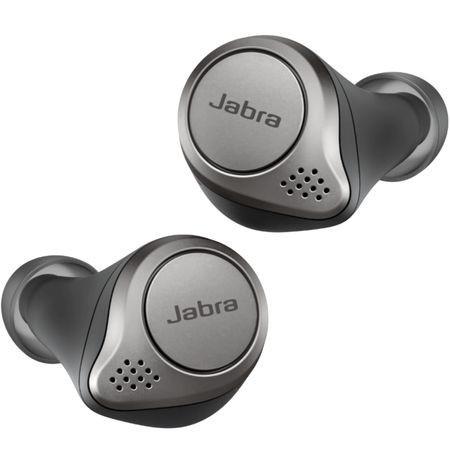 Casca bluetooth stereo Jabra Elite 75t, Negru/Titan