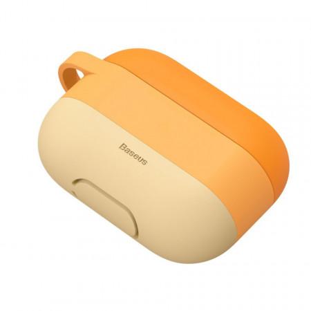 Husa pentru Apple Airpods PRO , Baseus, portocaliu