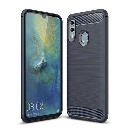 Husa telefon TPU model carbon , Gema Mixt pentru Huawei Honor 10 Lite / P Smart 2019 , albastru