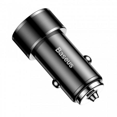Incarcator auto Baseus Small Screw Universal , USB Quick Charge 3.0 QC 3.0 si USB-C PD 36W , negru