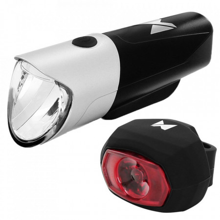 Lanterna + stop reincarcabil Wozinsky black-silver (WFBLB1)