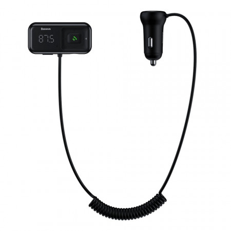 Modulator FM + incarcator auto, Baseus, negru