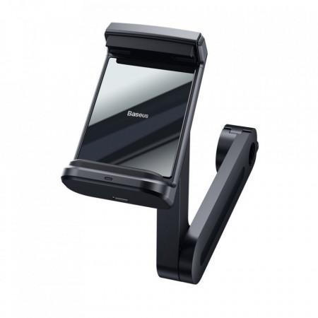 Suport pentru scaunul din spate Baseus Incarcator wireless Qi 15 W negru (WXHZ-01)