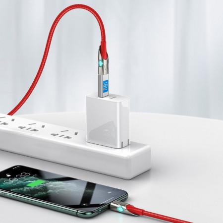 Cablu Baseus iluminat, conectivitate USB la Lightning 18W - 1m