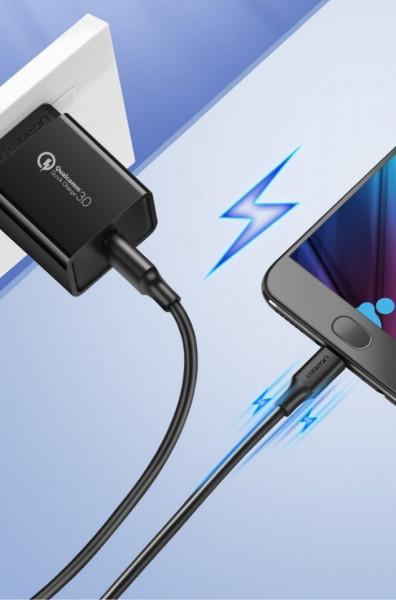 Cablu de date UGREEN USB la micro USB 2A - 2m negru