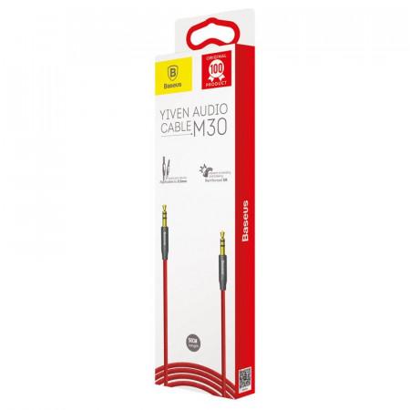Cablu mini jack audio 3.5 mm AUX Baseus Yiven 1.5m , rosu