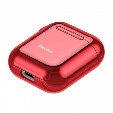 Husa protectoare din gel silica , Baseus pentru Apple Airpods , rosu