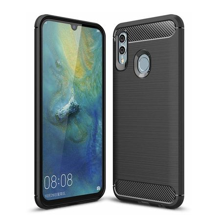 Husa telefon TPU model carbon , Gema Mixt pentru Huawei Honor 10 Lite / P Smart 2019 , negru