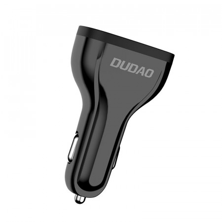 Incarcator auto DUDAO QuickCharge 3.0 3x USB 2.4A 18W - negru