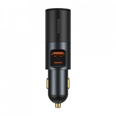 Incarcator Auto USB Baseus Share Together, Quick Charge, 120W, 1 X USB - 1 X USB Tip-C, Negru CCBT-C0G