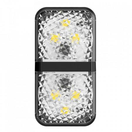Set 2 x lampa avertizare luminoasa pentru usa deschisa, Baseus (CRFZD-01) , negru