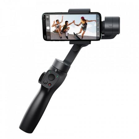 Stabilizator Gimbal portabil pentru telefon, Baseus 3-Axe pentru fotografii și înregistrări video compatibil cu Android/IOS, Vlog, YouTube, TikTok gri (SUYT-0G)