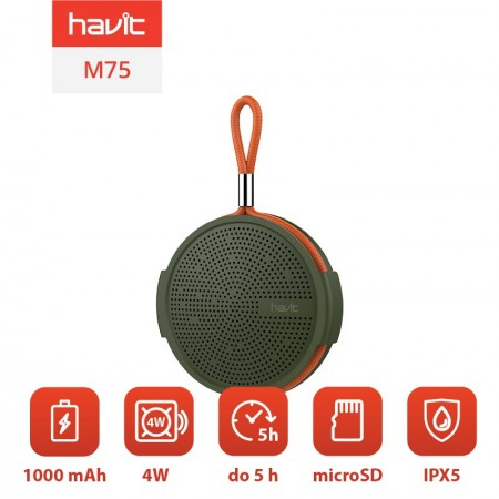 Boxa portabila wireless Bluetooth Havit M75 (verde)
