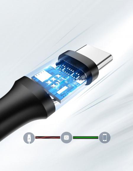 Cablu de date UGREEN USB la USB Type-C 3A - 1m negru