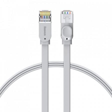 Cablu patchcord Ethernet plat Baseus RJ45 Cat 6 1000Mbps 3 m alb (PCWL-C0G)