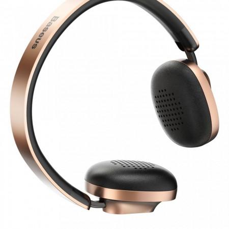 Casti audio bluetooth, Baseus Encok D01, Bluetooth 4.2 , 300 mAh, gold