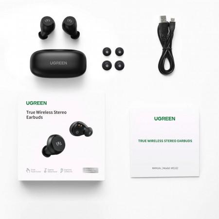 Casti Wireless Ugreen True TWS Bluetooth 5.0 - negru