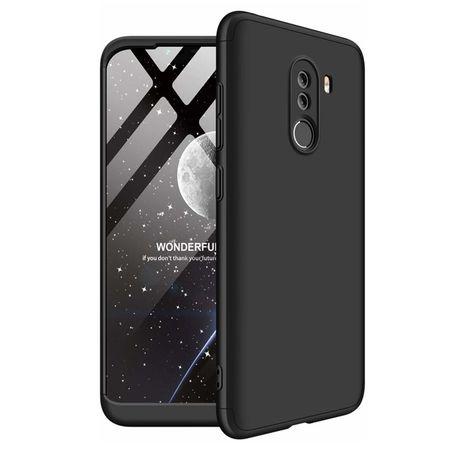 Husa 360° Matte Full Protection Gema Mixt pentru Xiaomi Pocophone F1 (fata + spate ) , negru