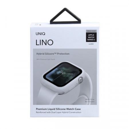 Husa protectoare UNIQ Lino pentru Apple Watch 5/4 44mm - alb