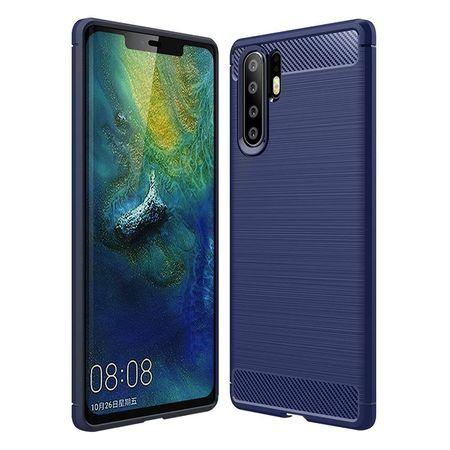 Husa telefon TPU model carbon , Gema Mixt pentru Huawei P30 Pro , albastru