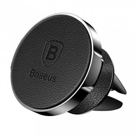 Suport auto magnetic din piele , Baseus Small ears leather , negru