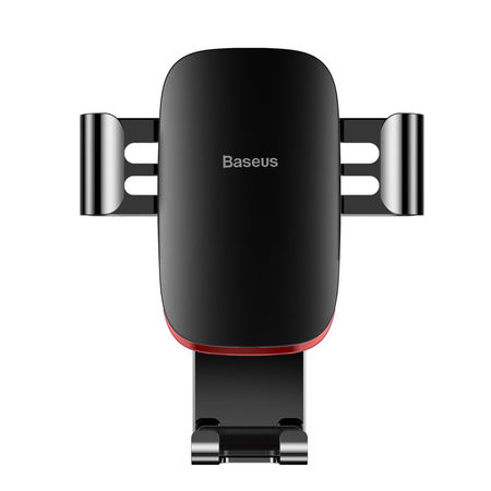 Suport telefon auto, Baseus Metal Age Gravity, pentru grilaj ventilatie, negru