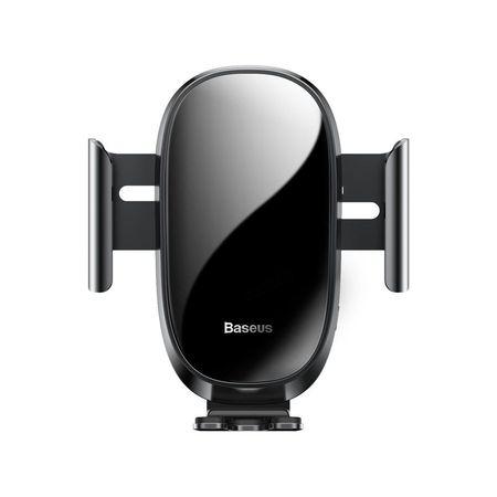 Suport telefon auto, Baseus Smart Car Mount Gravity, ajustare electrica, pentru ventilatie, negru